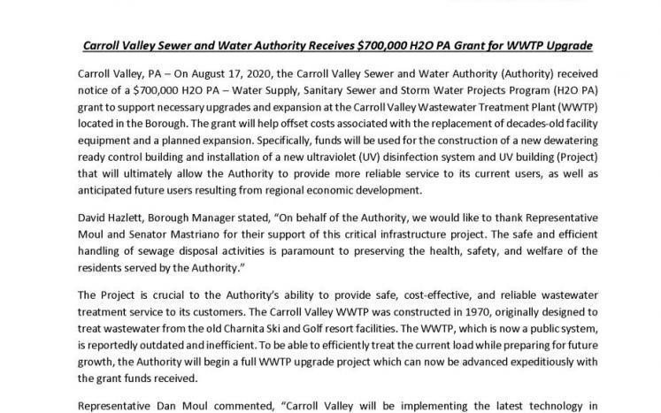 grant award press release